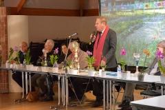 Notre maire, Gérard CAUDRON, honore de sa présence notre assemblée générale. Il a, depuis toujours, beaucoup d'affection pour nortre association